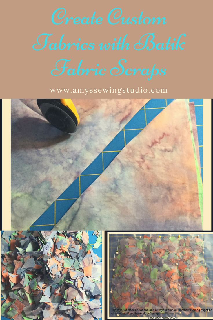 How to make Batik Fabric Scraps: Why are Batiks the best fabric for making custom fabric pieces shown in this project? Click on this link to find out PLUS Find out the best tool to use for making tiny fabric pieces...