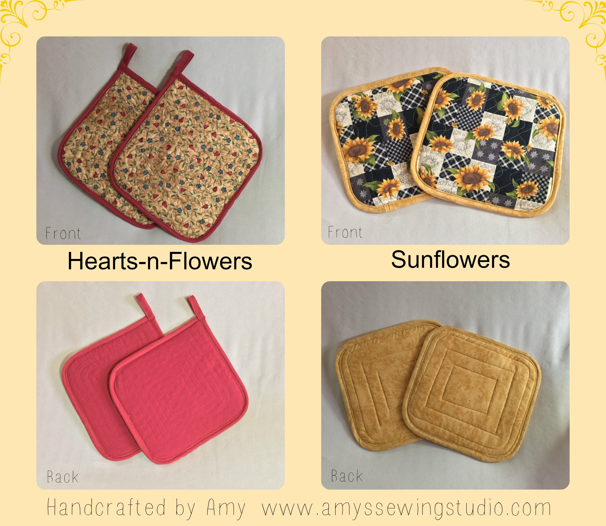 How to Make Quilted Potholders: To Fit the Larger than Average Size Hand