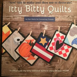 Itty Bitty Quilts- A great book for beginners!  A fun but small project to practice beginner sewing skills and decorate for the seasons!