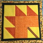 August Miniature Quilt Block from Itty Bitty Quilts