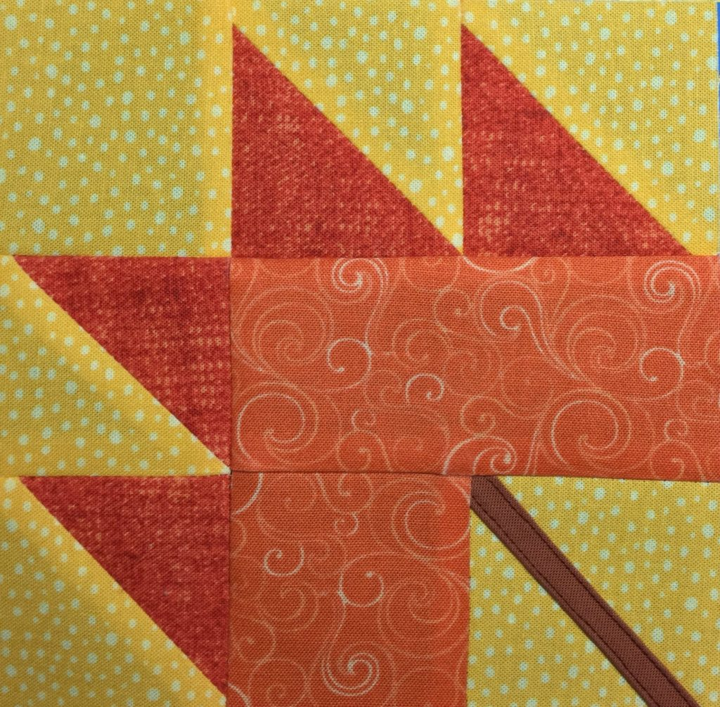 August Miniature Quilt Block Pattern from the Itty Bitty Quilts book. Read the book review now...Click on the picture!
