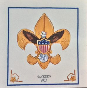 Cross-stitch Boy scout Eagle