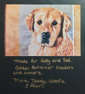 Cross-stitch Golden Retriever
