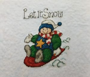 Sledding Snowman cross-stitch picture gallery