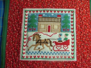 Cross-stitch Christmas picture
