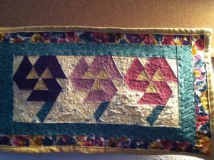 Pansies Mini Quilt picture