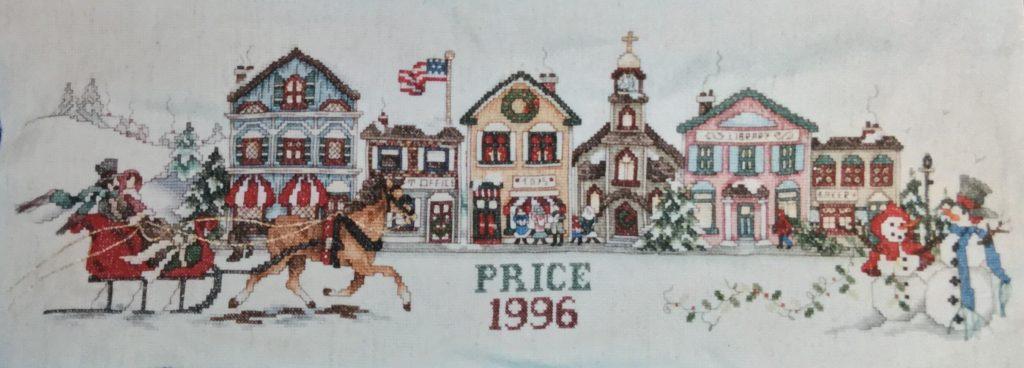 Cross-Stitch Christmas Village
