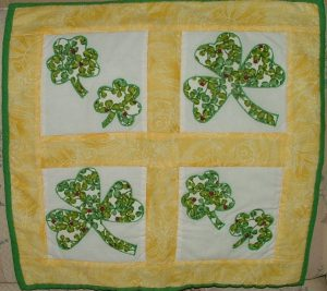 Applique Shamrock Quilt Picture