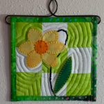 Applique Miniature Quilt-Daffodil