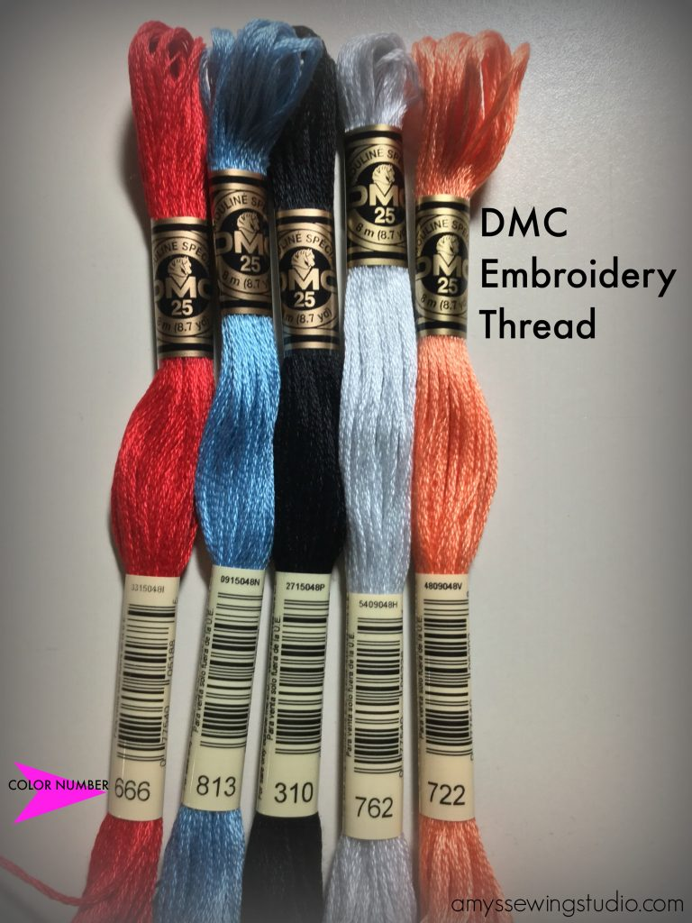 DMC Thread has color numbers on the label.  Click this PIN to find out how to organize these colorful threads!