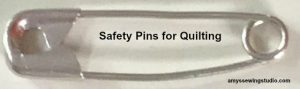 Curved Safety Pins for Quilting- Curved edge makes pinning quilts easier!