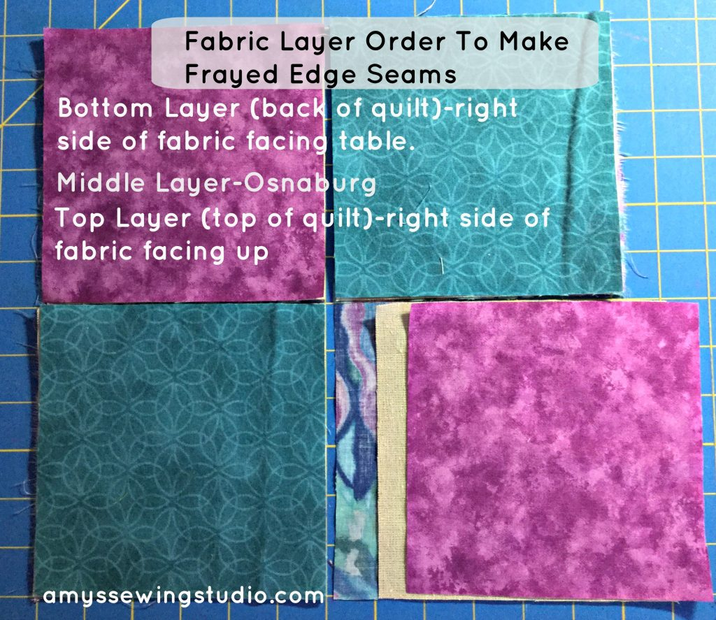 Rag Quilt Seams-making frayed edge seams. DIY Fray Fabric Edges. This is a fun technique for beginners to learn and use for making a rag quilt. Read this tutorial for step by step directions and photos!