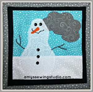 Embellish WIth Sewing Buttons Snowman