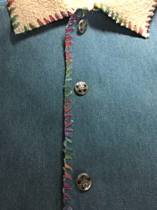Embellish With Sewing Buttons. Ideas for adding buttons to handmade clothing.