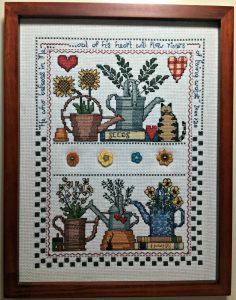 Ideas Using Buttons. Use theme buttons to compliment your cross-stitch pictures.
