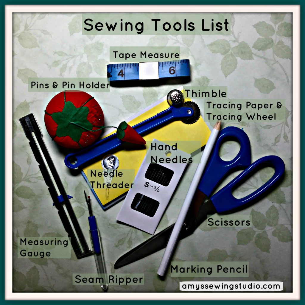 Sewing Tools List:  This is a GREAT Beginner Sewing Supply List with a few extra HELPFUL recommendations! Click this PIN to READ MORE...