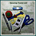 Sewing Tools List