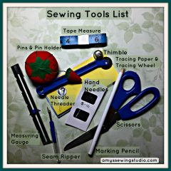 A Simple & Basic Sewing Tools List for a Successful Sewing Start!