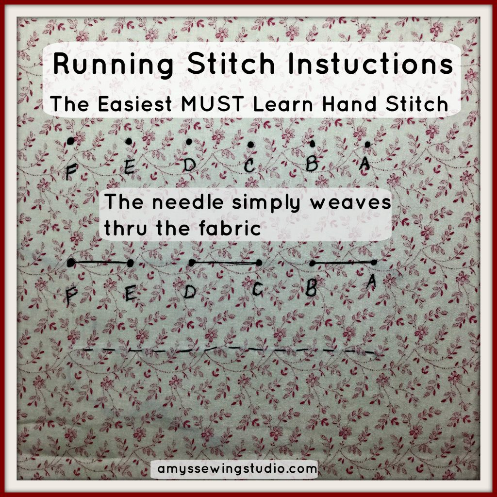 running stitch instructions beginners