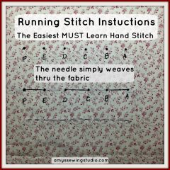 Simple Running Stitch Instructions for Beginners