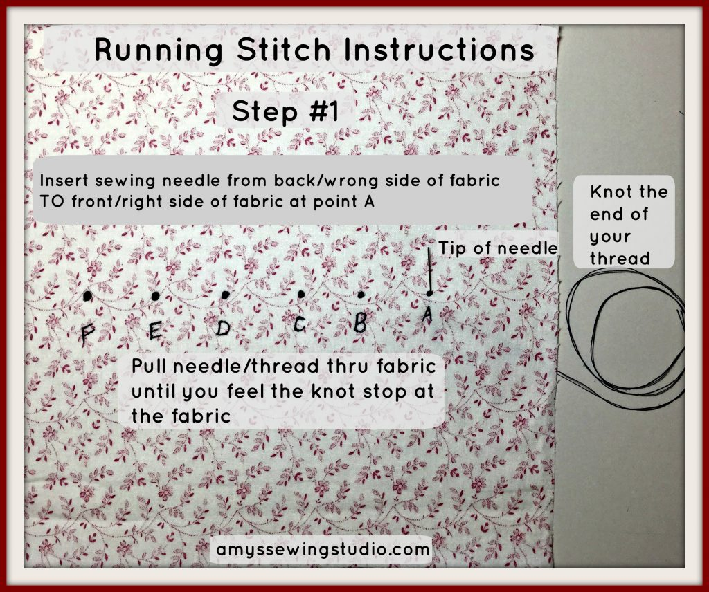 running stitch instructions#1