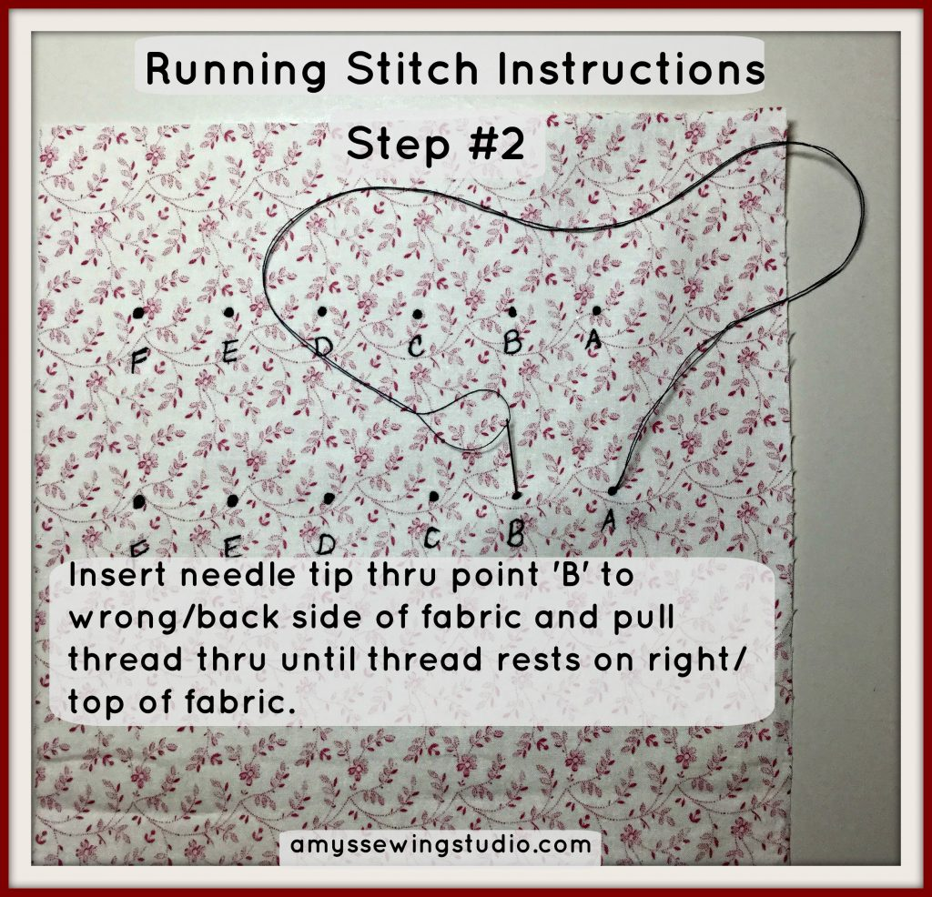 Running Stitch Instructions for Beginners:  Check out this basic sewing stitch that has a VIDEO TUTORIAL! Click this PIN to SEE and READ MORE!