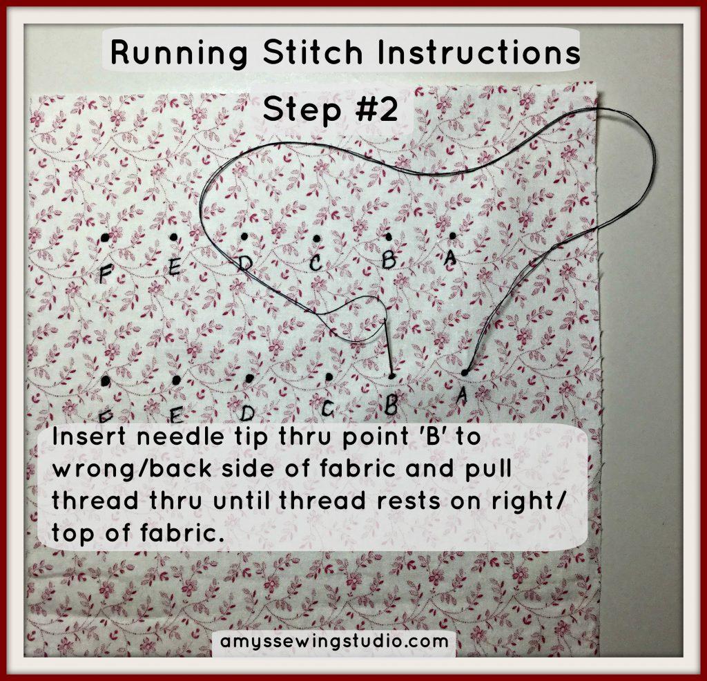 running stitch tutorial#2
