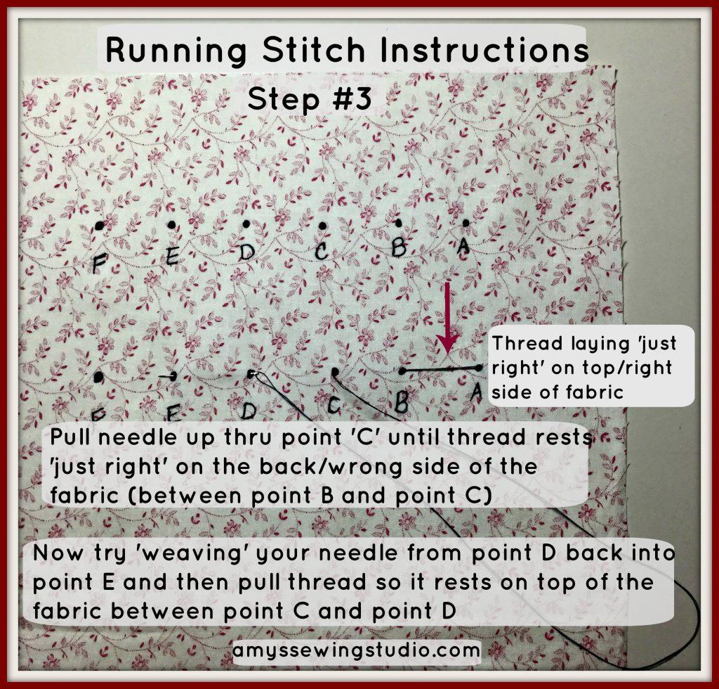 running stitch tutorial#3