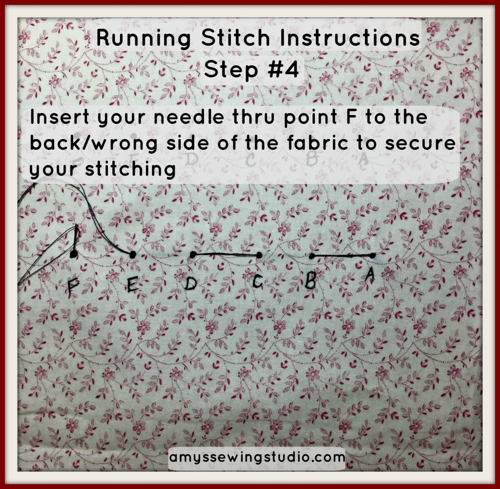 running stitch tutorial#4