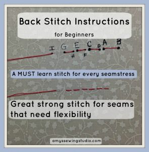 Back Stitch Instructions for Beginners: Check out this basic sewing stitch that has a VIDEO TUTORIAL and many step by step pictures. Click this PIN to SEE and READ MORE!