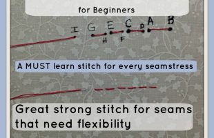 Back Stitch Instructions for the Beginner; A MUST learn basic sewing stitch!