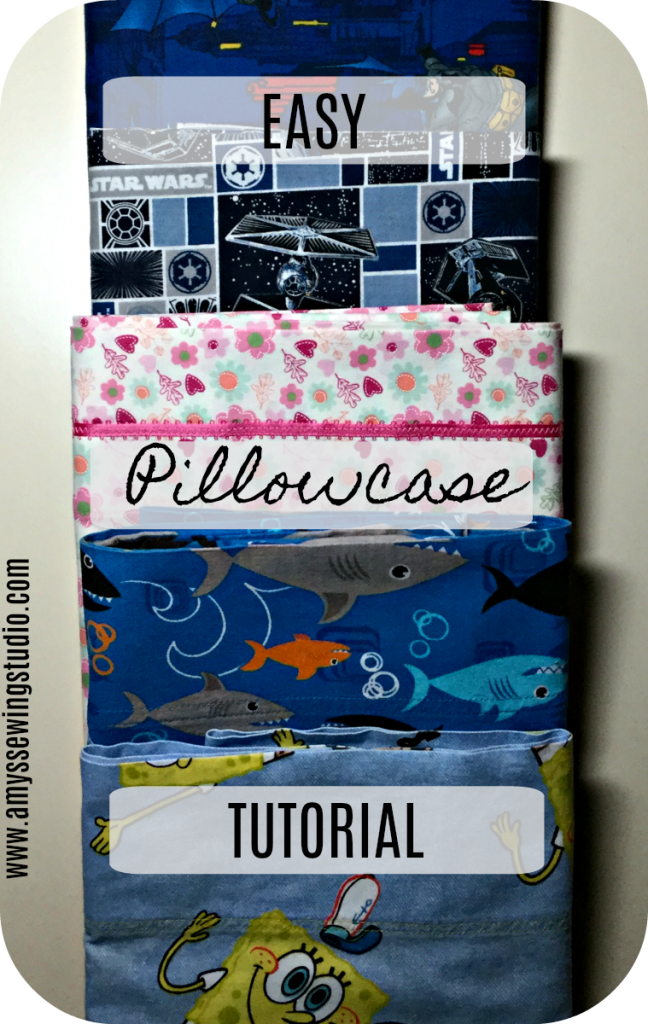 How to make a Quick and Easy Pillow Case Tutorial. Use cotton fabric for simple sewing. Pillowcases can be made for kids and adults; standard and king pillowcase size.