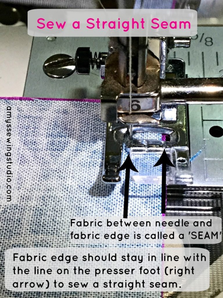 Sew a straight seam;  Super Simple Squares Quilt Tutorial for Beginners. Practice sewing seams along with other beginner sewing skills.  Click this PIN to READ MORE...