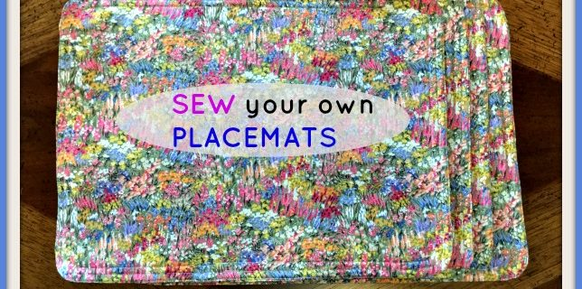 Beginners Tutorial For Easy to Sew Placemats
