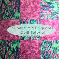 Quilting Tutorial for Beginners: Super SIMPLE Squares Quilt Tutorial