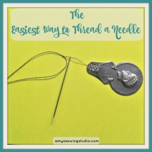 Easiest Way to Thread Needle. Use a Needle Threader for Threading a Hand Needle. Click this PIN for photos and a VIDEO!