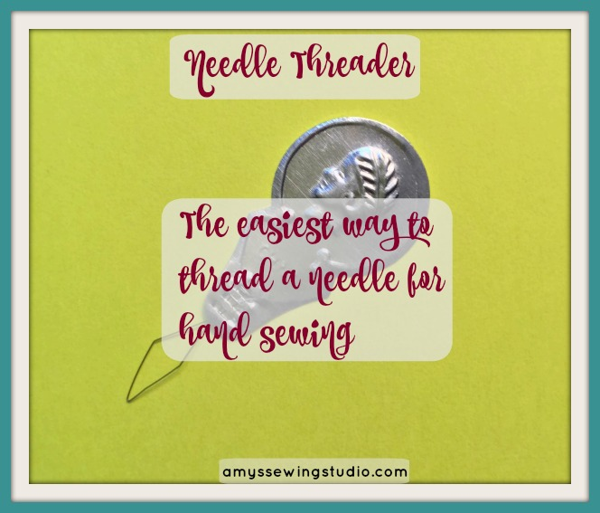 Best Needle threader for Hand Sewing. Use the needle threader that comes in a Basic Sewing Kit to thread your needle. Learn the Easiest Way to Thread a Needle.