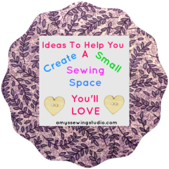 Ideas on WHERE you can Create a Small Sewing Space