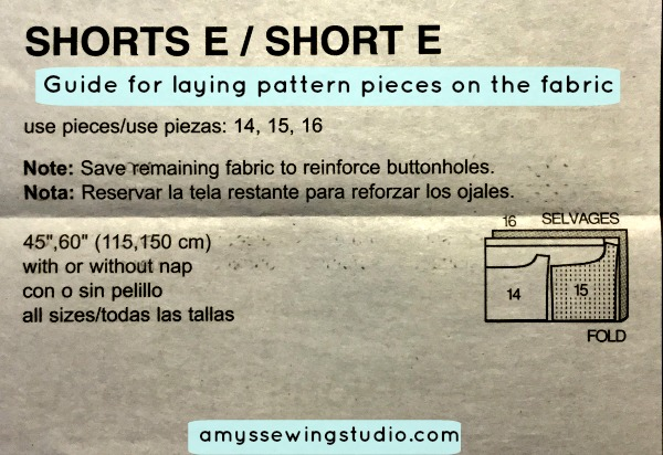 Pattern Layout Guide-Showing how to put pattern pieces on fabric