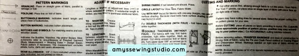 Sewing Pattern Instructions Marking_Adjusting_Cutting