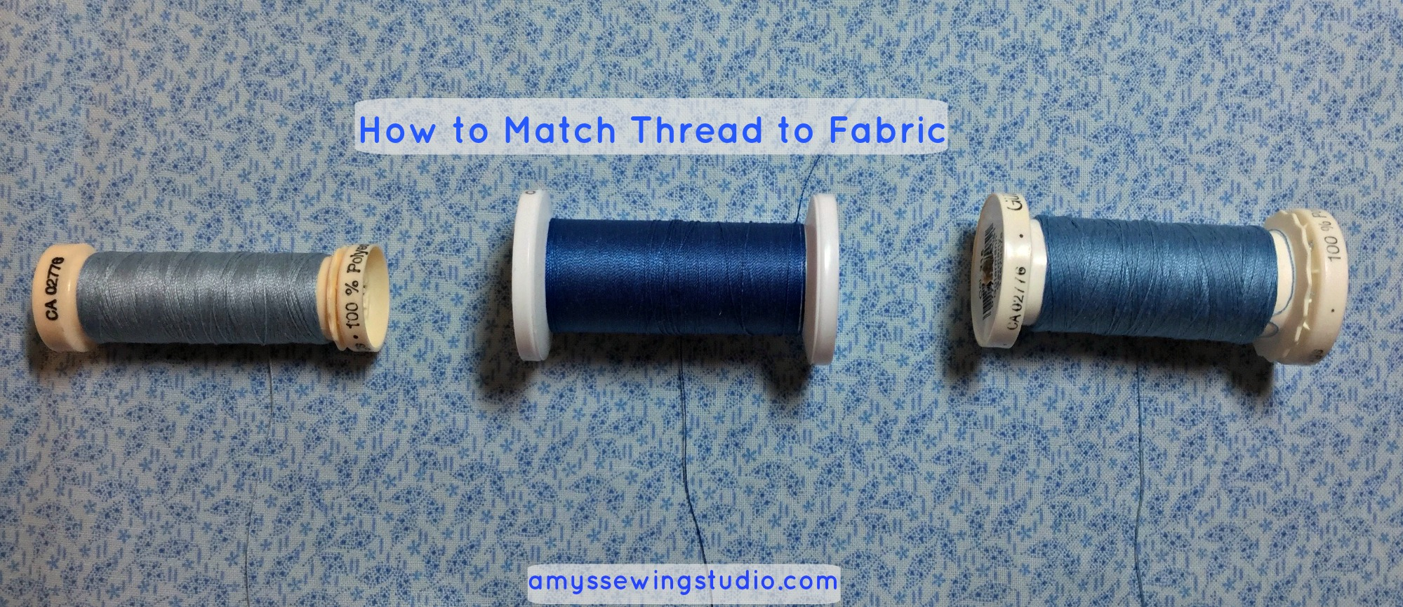 How to match thread to fabric for sewing basic hand sewing stitches.