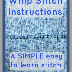 EASY and SIMPLE Whip Stitch Instructions for Beginners!