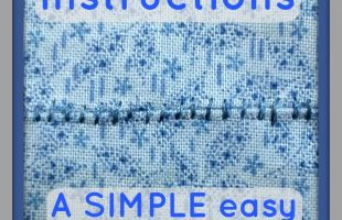 Check out this GREAT step by step tutorial showing beginner sewists Whip Stitch Instructions! Learn a Basic Handstitch to repair ripped seams.