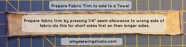 Add extra decor to your towels and Embellish your towels with fabric trim! Use Fabric Scraps to decorate your towels!