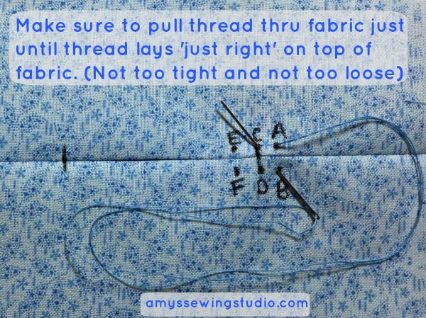 Whip Stitch Tutorial. Learn this SIMPLE and basic beginner sewing stitch. Step by Step instructions and pictures too!