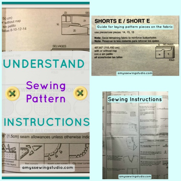 Learn about and Understand Instructions in a Sewing Pattern.  Most patterns have the same GENERAL SECTIONS within a pattern. Learn about them here,  Read this post to understand sewing pattern directions.