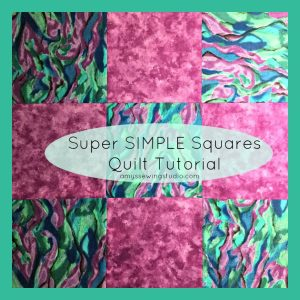 Super Simple Squares Quilt Tutorial for Beginners. Practice sewing seams along with other beginner sewing skills.