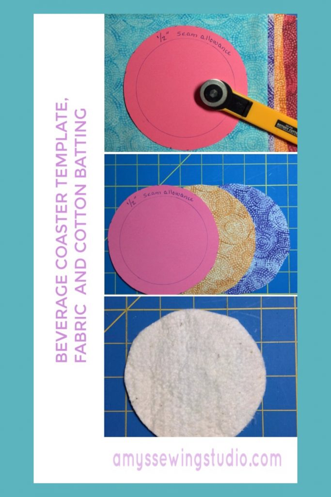 Sew your own Fabric Drink Coasters with this FREE Sewing tutorial for Beginners!