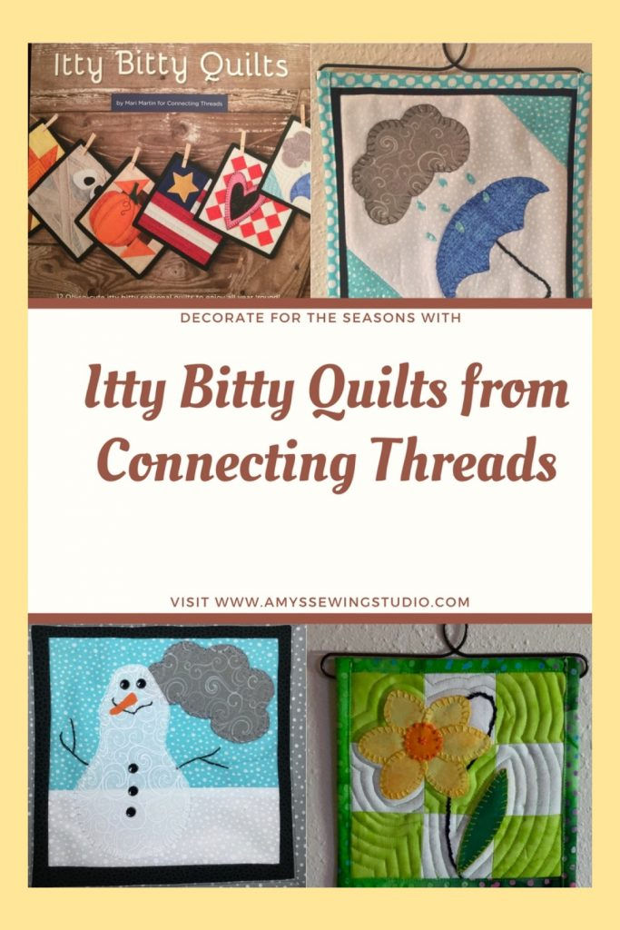 Miniature Quilts made from a Book called Itty Bitty Quilts. Decorate for the seasons with mini-quilts.