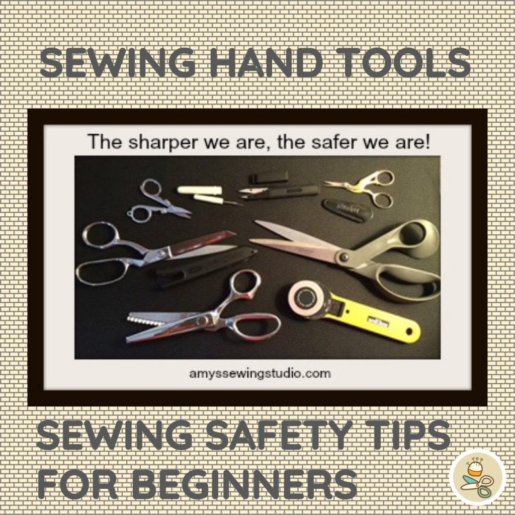 Sewing Safety Tips: Sewing Tool Safety for Beginners. Learn how to handle these sharp sewing tools to prevent accidents! Click thru to read more....